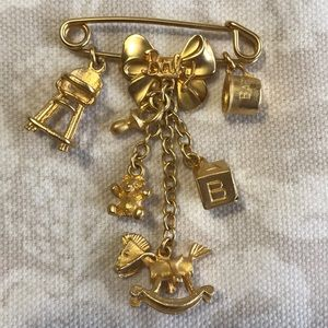 Wonderful Brooch with Baby Things